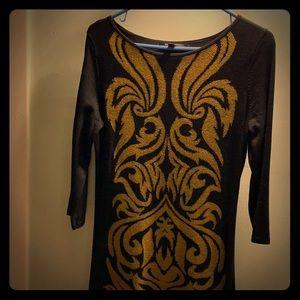 Nine West patterned sweater dress
